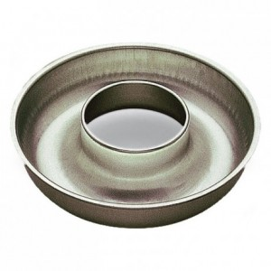 Deep savarin mould open tube tin Ø260 mm (pack of 3)
