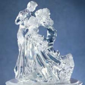 Wilton Bianca Clear Acrylic Wedding Topper