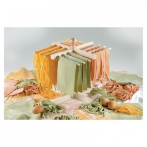Pasta drying rack with 4 arms
