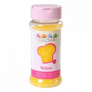 FunCakes Coloured Sugar Yellow 80g
