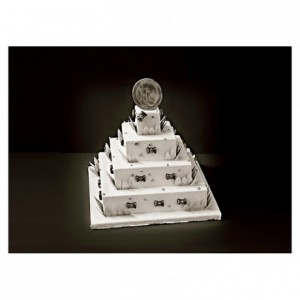 ABS insert French style square weeding cake L 80 mm