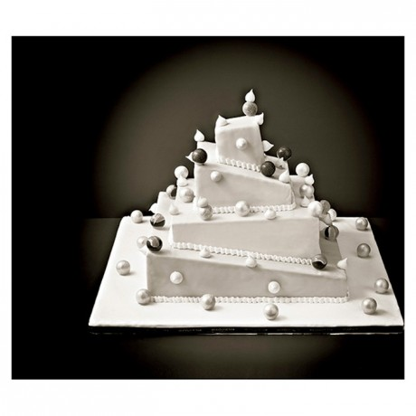 ABS insert French style de-stuctured weeding cake L 380 mm
