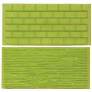 FMM Impression Mats 1 brick wall tree bark