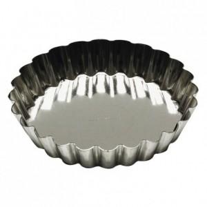Round fluted tartlet mould tin Ø140 mm (pack of 12)