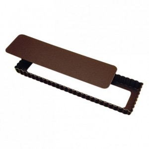 Oblong fluted tart mould loose bottom non-stick 350x110 mm