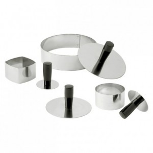 Pack down tool for entremets stainless steel Ø 80 mm