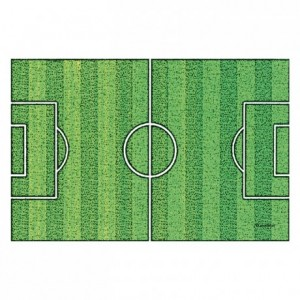 Wafer paper football field 30 x 20 cm