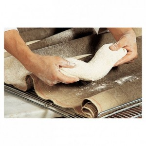 Dough fermentation cloth 100% natural linen 750 mm x 20 m