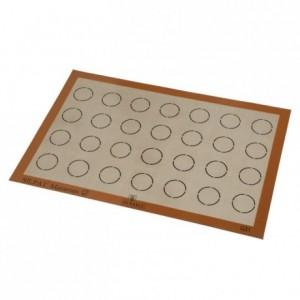 Non-stick mat for 63 macaroons Ø 35 mm 585 x 385 mm