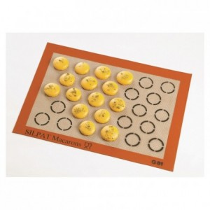 Non-stick mat for 28 macaroons Ø 35 mm 375 x 275 mm
