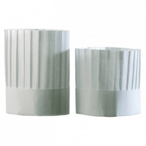 Chef pleated chef's hat without top H 225 mm (10 pcs)