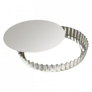 Round fluted tart mould loose bottom tin Ø280 mm (pack of 3)