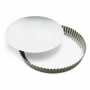 Round fluted tart mould medium deep loose bottom tin Ø280 mm (pack of 3)