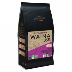 Waina 35% organic and fair trade white chocolate Gourmet Creation beans 3 kg