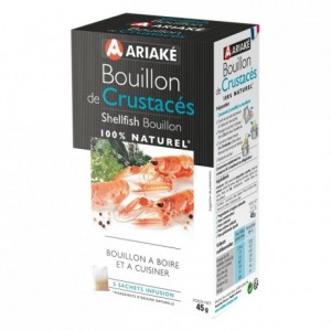 Shellfish Bouillon to infuse 5 sachets for 33 cL