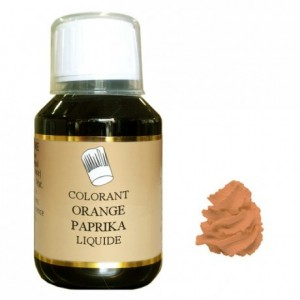 Liquid hydrosoluble colour Orange paprika 500 mL