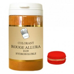 Powder hydrosoluble colour high concentration allura red 50 g
