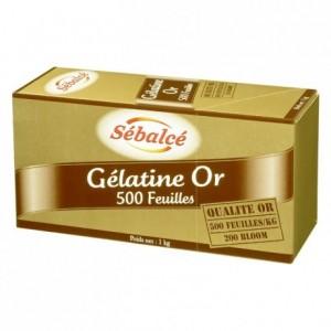 Gelatin sheets 500 units (gold strength 200 bloom) 1 kg