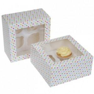 House of Marie Cupcake Box 4 Confetti pk/2