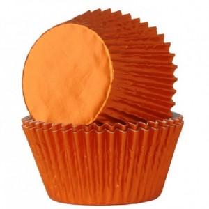 House of Marie Baking Cups Foil Orange pk/24