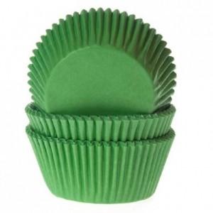 House of Marie Baking cups Grass green pk/50