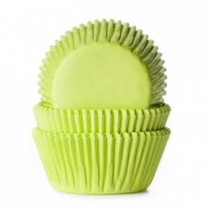 House of Marie Baking cups Lime Green pk/50