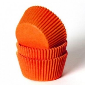 House of Marie Baking cups Orange pk/50
