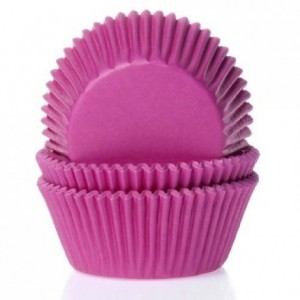 House of Marie Baking cups Pink pk/50