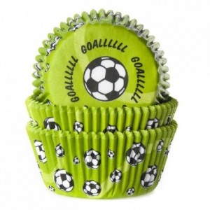 House of Marie Baking cups Soccer Green pk/50