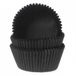 House of Marie Mini Baking cups Black pk/60