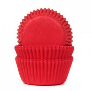 House of Marie Mini Baking Cups Red Velvet pk/60