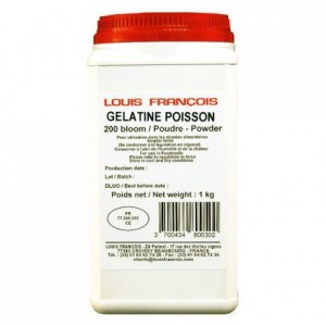 Fish gelatin powder (gold strength 200 bloom) 1 kg