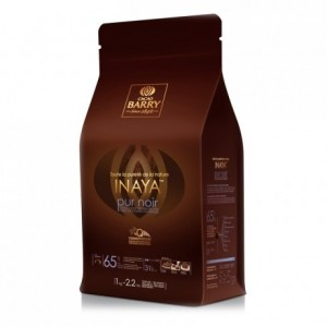 Inaya Origin 65% Q-fermentation dark chocolate couverture 1 kg