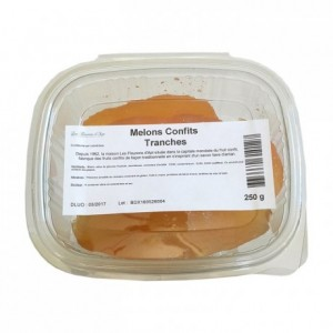 Candied yellow melons slices 250 g