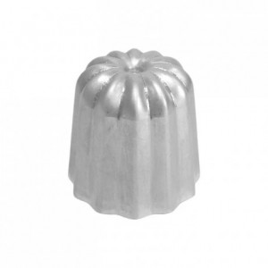 Mould for cannelés polished aluminium Ø 35 mm