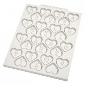 Katy Sue Mould Heart Alphabet