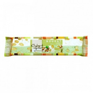 Soft nougat vanilla and pistachio bar 100g