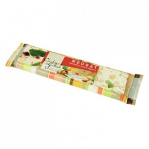 Soft Montélimar Nougat almonds and candied fruits bar 100g