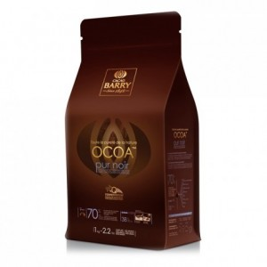 Ocoa 70% Q-fermentation dark chocolate couverture 1 kg