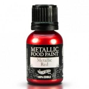 RD Metallic Food Paint Red 25ml