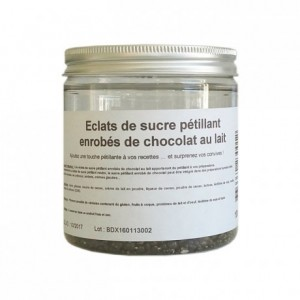 Popping sugar milk chocolate coating 100 g