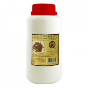 Popping sugar milk chocolate coating 1 kg