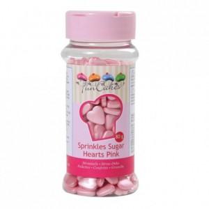 FunCakes Sugar Hearts Pink 80g