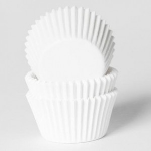 House of Marie Mini Baking Cups White pk/60