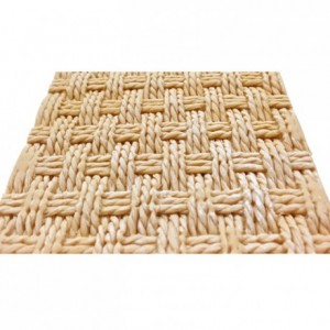 Karen Davies Silicone Mould - Rustic Basket Weave by Alice