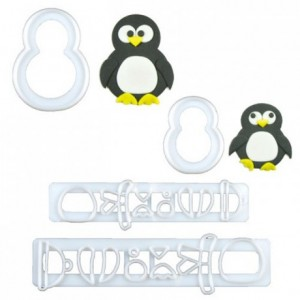 FMM Mummy and Baby Penguin Cutter Set/4