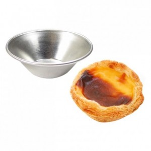 Pasteis de Nata mould tin Ø70 x 20 mm (set of 24)