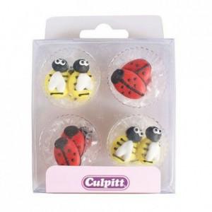 Culpitt Sugar Decorations Bee & Ladybug pk/12