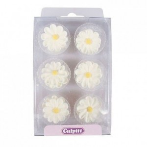 Culpitt Sugar Decorations Daisy White pk/12