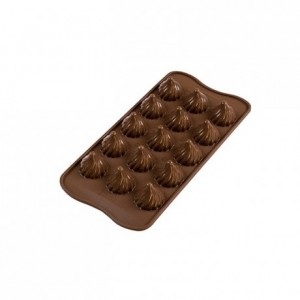 Flame chocolate silicone mould Ø 27 x 28 mm